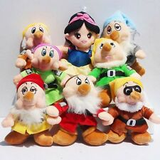 Disney Snow White Princess & Seven Dwarfs Plush Toy Dolls Sef of 8