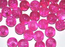 200 COLOURED GLASS ROUND CRACKLE CRAFT BEADS - 6mm - Choose your colour