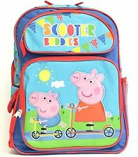 "Peppa Pig 16"" inches Large Backpack - Scooter Buddies - Licensed Product NEW"