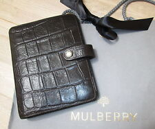 VINTAGE MULBERRY CHOC BROWN CONGO LEATHER AGENDA ORGANISER FILOFAX DIARY £275!