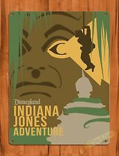 TIN-UPS Tin Sign Disney's Indiana Jones Adventure Disneyland Ride Art Poster