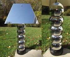 George Kovacs CHROME BALL table lamp mid century modern eames atomic METAL SHADE