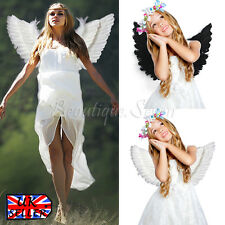 Angel Fairy Large Adult Child Feather Wings Costume Fancy Night Party Black