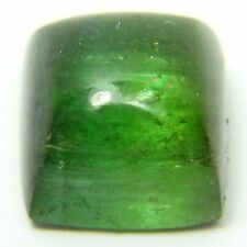 Q-52 Natural green tourmaline, 6.31ct 9x8x7mm, cabochon, cab Brazil