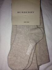 NEW Burberry Authentic Baby Girl Beige Cream Cotton Tights 2 3 Years Size 23 24