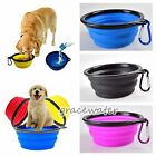 New Pet Cat Dog Feed Food Silicone Bowl Dish Feeder Travel Portable Collapsible