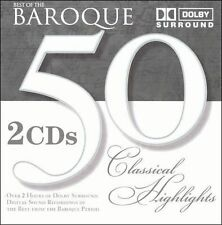 Best of Baroque : 50 Classical Highlights  MUSIC CD