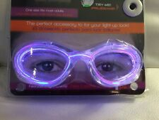 NIGHT GLO PINK PARTY GLASSES - LIGHT UP PINK - FLASH OR STEADY NIP