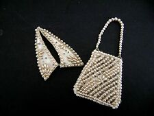 Vintage Pearl Jewelry Doll Purse & Collar for Madame Alexander Cissy Miss Revlon