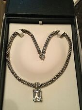 LAGOS STERLING SILVER & 18K  GOLD  CAVIAR NECKLACE WITH PENDANT $1875.00 VALUE