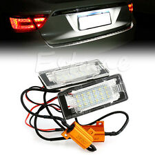 2x18LED Error free License Plate Light Fr VW touran Touareg Polo Jetta 2011-2012