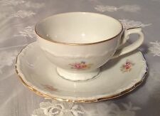 Vintage Ivory Porcelain china set cup / plate made in Czechoslovakia