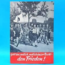 DDR Broschüre Nationale Front 1952 - Gebt uns endlich unser Recht - den Frieden!
