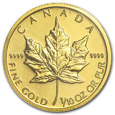 2009 1/10 oz Gold Canadian Maple Leaf Coin - SKU #46350