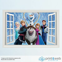 Frozen 3D Window View Decal Wall Sticker Home Decor Art Mural Disney Kids