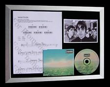 OASIS Whatever LTD EDITION GALLERY QUALITY CD FRAMED DISPLAY+EXPRESS GLOBAL SHIP