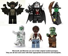 LEGO 6x Series 2 3 4 Vampire Witch Mummy Frankenstein Monster Werewolf Bat Fight