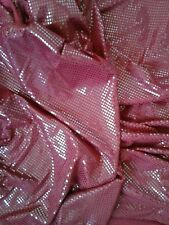 """Shiny Sequined Glitzy Dance Lycra Fabric Material Textile 60"""" Shiny Red"""