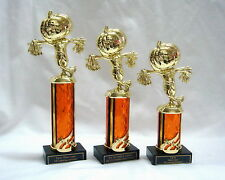 3 HALLOWEEN TROPHIES  PUMPKIN SCARECROW COSTUME PARTY AWARD OCW