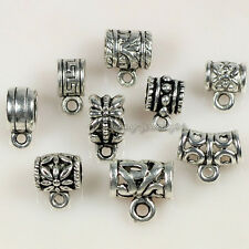 Wholesale 45pcs Tibetan Silver Tone Mixed Cup Connectors Bails Jewelry Findings
