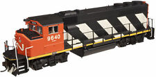 Atlas 10001398 HO Scale GP40-2(W) Silver Canadian National #9653, New