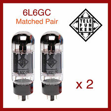 Telefunken Black Diamond 6L6GC Power Vacuum Tube - Matched Pair - 2 Pieces