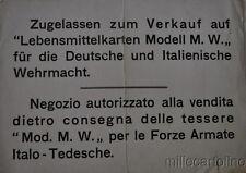 RSI CARTELLO BILINGUE ( ITALIANO/TEDESCO)  Negozio autorizzato alla vendita...