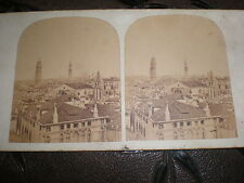 Stereoview photograph panoramic view of Venice Italy c1860s