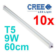 10x CREE T5 48LED TUBE 60cm 9w COOL WHITE FROSTED FLUORESCENT BULB SAA APPROVALS