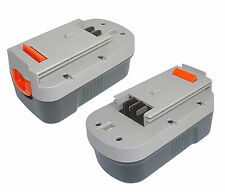 2x Replace Ni-MH Battery For 18V 18 volt BLACK & DECKER A18 HPB18 244760-00 3AH