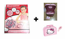 Hello Kitty Bracelet & Bead Set + Hello Kitty Vanity Case With Brush - BRAND NEW