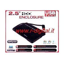 BOX ESTERNO SATA OEM 2.5 USB 2.0/3.0 HD HARD DISK ALLOGGIO CAVO COMPUTER PC