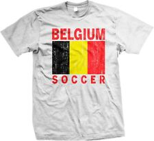 Belgium Soccer Flag Colors Nationality Ethnic Pride 2014 World Cup -Mens T-shirt