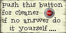 Funny Cleaning  Do It Youself Wall Plaque  Gift