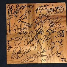 31 Current Greats Pba Pro Bowling signed 12 x 12 Wood floor tile Jason Belmonte