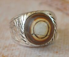 Silver agate aqeeq aqiq Men Ring-Middle Eastern-yemen-yemeni
