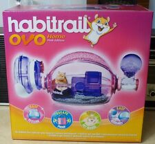 NEW Habitrail Ovo Home Pink Edition Hamster Cage w/Wheel + Water #62664