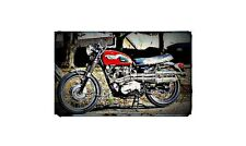 1970 triumph trophy special Bike Motorcycle A4 Retro Metal Sign Aluminium
