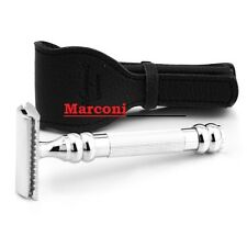 Parker 100R 3PC DE safety Shaving razor with Free 100% Leather Travel case