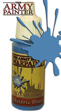 The Army Painter WP1113 Acrylic Warpaint Electric Blue 18ml Plastic Bottle
