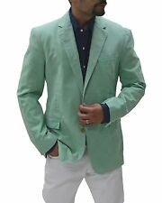 Ralph Lauren Black Label Mint Green Cotton Denim Anthony Blazer Sportcoat 40R