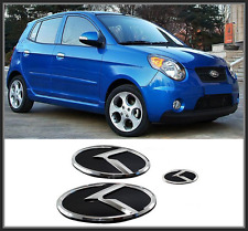 Front Hood / Trunk / Steering Horn K Logo Emblem 3p for KIA NEW Morning ;Picanto