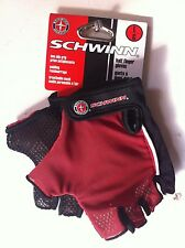 SCHWINN GLOVES HALF FINGER NON-SLIP MESH PADDING CYCLING BIKES NEW