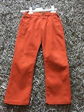 Excellent Condition Boys M&S Trousers Age 4-5 Matches Steiff Orange Jumper Top