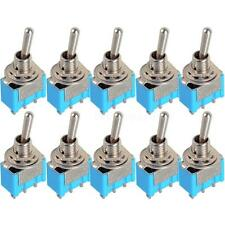 100x Blue Mini MTS-102 3-Pin SPDT ON-ON 6A 125VAC Miniature Toggle Switches HYSG