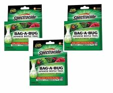 3 Boxes/6 SPECTRACIDE ~BAG A BUG~ Japanese Beetle Insect Trap 2 REPLACEMENT BAGS
