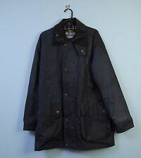 Vintage Mc Orvis Wax Jacket in Navy Blue MADE IN ENGLAND Large 44 / 46