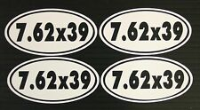 7.62 x 39 Ammo Can Gun Decal Sticker - 4 Pack