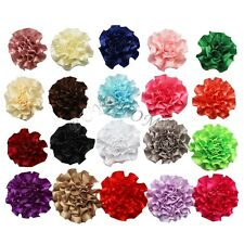 20 Lot Chiffon flower clip for Corsage headband hair bow Crafts baby girl DIY