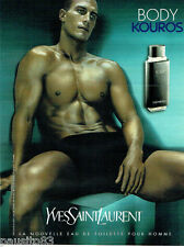 PUBLICITE ADVERTISING 046  2000  Yves Saint Laurent eau toilette Body Kouros hom